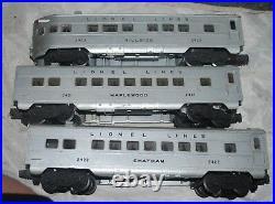 Vintage LIONEL 1464W PASSENGER SET 2033AA DIESEL ALCO'S 2421 2422 2423 CARS