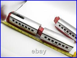 Vtg Lionel Jr. Prewar O Gauge 1700 Streamlined 4 Car Set Passenger Articulating
