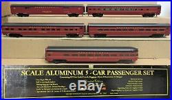 Weaver Pennsylvania/PRR 21 5-Car Alum. Passenger Set O-Gauge RARE NOS