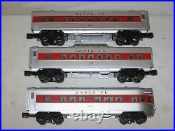 Williams Santa Fe 2400 style Streamliner 3 car Passenger Set O/027 wks with Lionel