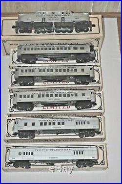 Williams Tca 25th Anniversary Diesel Locomotive Gg-1 & 5 Passenger Cars Set Ob